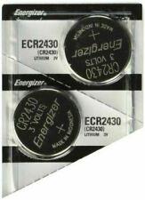 2 Pcs Energizer CR 2430 CR2430 ECR2430BP 3V Lithium Coin Cell Battery