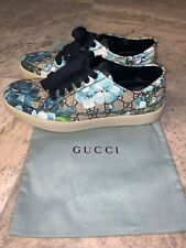 Men's Blue Floral Gucci Shoes (Authentication From Saks Fifth Avenue)