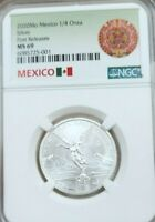 2020 MEXICO SILVER LIBERTAD 1/4 ONZA NGC MS 69 KEY DATE SCARCE LOW MINTAGE