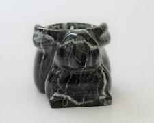 More details for rabbit candle holder black/white  marble