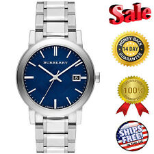 Burberry Blue Check Stamped Dial Stainless Steel Men's Watch Item No. BU9031
