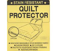 STAIN RESISTANT Quilt Doona Duvet PROTECTOR - KING