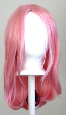 17'' Long Straight No Bangs Cotton Candy Pink Cosplay Wig NEW