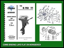 CLINTON K-753 6000 SERIES 7.5 H.P. OUTBOARD MOTOR OWNERS MANUAL AND PARTS LIST