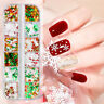 3D Christams 12 Grids Nail Flakes Laser Glitter Sequin Nail Art Decoration Hot