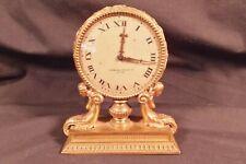 RARE American D'ore Mounted Figural Desk Clock Sterling Bronze Co. Nude Mermaids