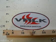 STICKER,DECAL VALK WWW.VALK-SAFETY.NL LARGE 20 CM