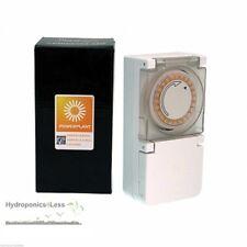 PowerPlant Heavy Duty 24 Hour 15 min Hydroponic Grow Light Tent Timer 600w Plug