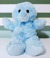 Korimco Blue Teddy Bear Plush Toy w/ Blue Bow 24cm Tall!
