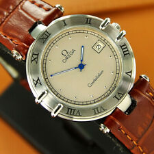 Authentic Omega Constellation Date Silver Dial Stainless Steel Quartz Mens Watch