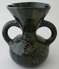Superb Elton Ware (Eltonware) Two Handled Green Vase - British Art Pottery