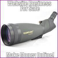 Fully Stocked SPOTTING SCOPES Website Business|FREE Domain|FREE Hosting|Traffic
