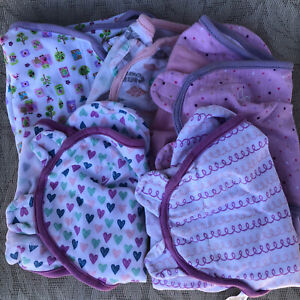 Swaddleme Swaddle Blankets Lot Of 5 Size Small Medium Pink Purple Girl