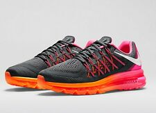 NIKE AIR MAX 2015 698903-002 Wmn Sz 7.5 Classic Charcoal/Pink Pow/Total