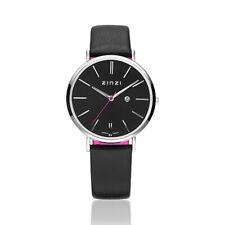 Zinzi Retro Horloge Zwarte Wijzerplaat Zwarte Band Ziw401
