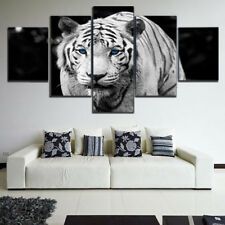 5Pcs Animal Tiger Oil Painting Print Poster Canvas Wall Art Pictures Decoration