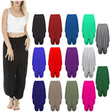 Womens Ladies Gathered Draped Baggy Harem Pants Trousers Lagenlook Alibaba 8-26