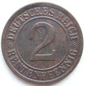 2 Rentenpfennig 1923 g in Vorzüglich