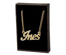 18k Plateó la Collar de Oro Con el Nombre - INES - Regalos Para las Mujeres