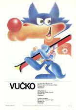 "Juegos Olímpicos de Invierno 1984 sarajevo cartel motivo ""mascota vucko"" J. Trobec"