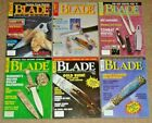 Lot of 6 BLADE Magazines Complete Year 1991 Volume 18 Uncirculated NOS, Knives