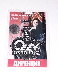 Ozzy Osbourne moscow show pass crew laminate Tour: Black Rain MAY 27 2007