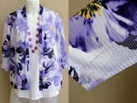 Chico's purple lilac white jacket cardigan size 2 M L 12 14 SUMMER SPRING top