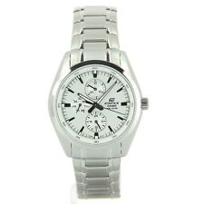 Casio Edifice EF338D-7A Mens 100M Stainless Steel Dress Watch 100M White Dial