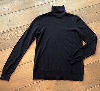 Schöner Rollkragen Pullover von MASSIMO DUTTI - Navy - M - silk cotton cashmere