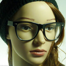 aa48ea7bee21 RETRO Cosplay Oversized Large Men Women Frame Clear Lens Eye Glasses BLACK  NEW