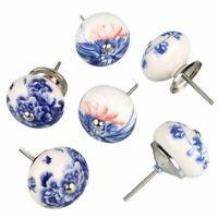 2* Pomelli Maniglia Cassetti Armadio Cucina Camera Letto Strass Ceramica Disegno