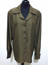 ESCADA by MARGARETHA LEY Camicia Donna Seta Silk Woman Shirt Sz.XL - 48