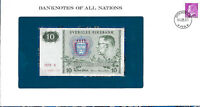 Banknotes of All Nations Sweden 10 Kronor 1979 serie X P-52d UNC BIRTHDAY 1987