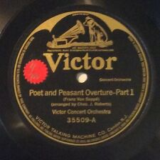 Victor Concert Or on 78 rpm Victor 35509: Poet and Peasant Oveture (2 parts); E+