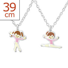 Sterling Silver Pair Of Ballet Necklace
