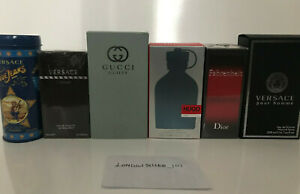 MENS AFTERSHAVE SAMPLE 2.5ML GENUINE - GUCCI - VERSACE - DIOR - MOSCHINO