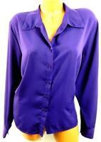 Preston & york purple stitched button down women's plus long sleeve top 20W