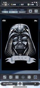 Topps Star Wars Digital Card Trader Halloween 2017 Darth Vader Insert Award