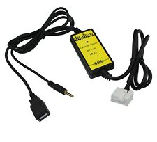 USB Aux Interface Adapter Charge Cable For Honda Accord Odyssey Civic City Fit