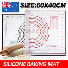 60x40 X Large Non-Stick Silicone Cake Dough Mat Pastry Clay Fondant Baking Sheet