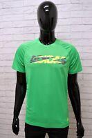 Maglia ADIDAS Uomo Taglia Size M Maglietta Shirt Man Manica Corta Verde Regular