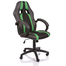 TRESKO® Sedia da ufficio girevole per casa Poltrona ufficio Sportiva Verde