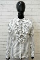 Ralph Lauren Donna Camicia Taglia L Blusa Maglia a Righe Manica Lunga Shirt