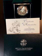 "1995 'S"" Civil War Proof Commemorative 90% Silver Dollar US Coin  ECC&C, Inc."