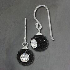 Gioielli di lusso nero argento zircone