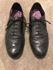 Black Brogues Clarke's Size 8 1/2 Lace Up Shoes