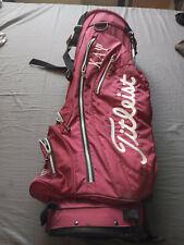 New listing Titleist Single Strap Caddie 7-Way Divider Stand Bag Kappa Alpah PSI ensigna
