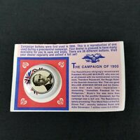 Vintage William Jennings Bryan Campaign of 1900 Reproduction Stick Pin on Card