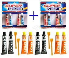 2 Packs Rapid Epoxy Resin Adhesive Glue Mix Fast Strong Clear Glass Wood Plastic