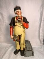"McCORMICK 12"" Porcelain Whiskey Decanter LOBSTER FISHERMAN Northwest MAINE"
